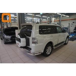 Can Otomotiv MIPA.53.1913 защита заднего бампера Mitsubishi Pajero IV (2011-2014/2014-) (уголки) d 76/42