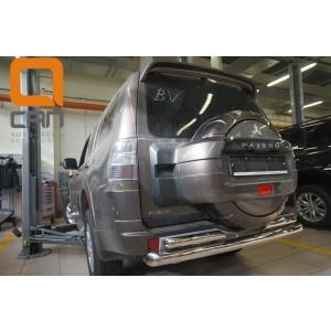 Can Otomotiv MIPA.55.1920 защита заднего бампера Mitsubishi Pajero IV (2011-2014/2014-) (двойная) d 76/60