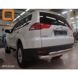 Can Otomotiv MIPS.53.2041 защита заднего бампера Mitsubishi Pajero Sport (2008-) (двойная) d 76/60