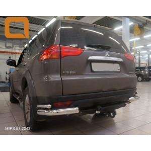 Can Otomotiv MIPS.53.2043 защита заднего бампера Mitsubishi Pajero Sport (2008-) (уголки) d 76/42