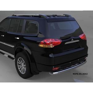 Can Otomotiv MIPS.55.2042 защита заднего бампера Mitsubishi Pajero Sport (2008-) (одинарная) d 76