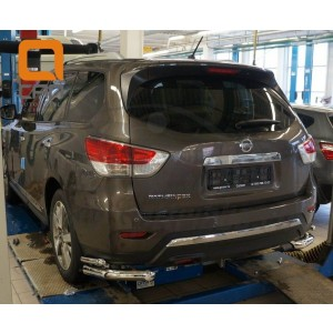 Can Otomotiv NIPA.53.4050 защита заднего бампера Nissan Pathfinder (2014-) (уголки) d 76/42