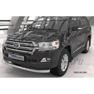 Can Otomotiv TOC2.33.1501 защита переднего бампера Toyota Land Cruiser 200 (2015-)(кроме Executive) (одинарная) d76*