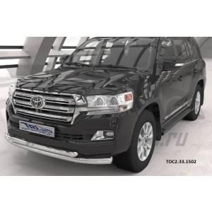 Can Otomotiv TOC2.33.1502 защита переднего бампера Toyota Land Cruiser 200 (2015-)(кроме Executive) (двойная) d76/60*