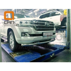 Can Otomotiv TOC2.33.3375 защита переднего бампера Toyota Land Cruiser 200 (2015-)(кроме Executive) (одинарная) d76