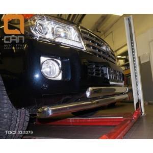 Can Otomotiv TOC2.33.3379 защита переднего бампера Toyota Land Cruiser 200 (2012-2015) (двойная) d 76