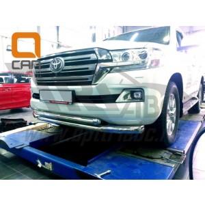 Can Otomotiv TOC2.33.3383 защита переднего бампера Toyota Land Cruiser 200 (2015-)(кроме Executive) (двойная) d76/60