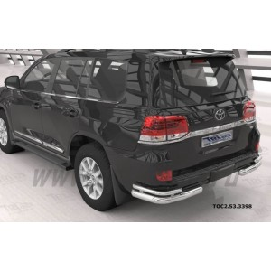 Can Otomotiv TOC2.53.3398 защита заднего бампера Toyota Land Cruiser 200 (2007-2015 / 2015-) уголки (кроме Executive) d 76/42
