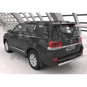 Can Otomotiv TOC2.55.1206 защита заднего бампера Toyota Land Cruiser 200 (2012-2015) (овал) d 75x42*