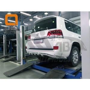 Can Otomotiv TOC2.57.3399 защита заднего бампера Lexus LX570 (2015-) (Shark широкая) d76/42