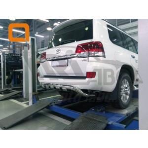 Can Otomotiv TOC2.57.3403 защита заднего бампера Lexus LX570 (2015-) Shark узкая) d76