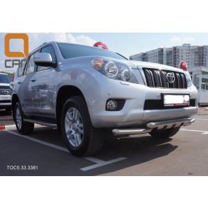 Can Otomotiv TOC5.33.3381 защита переднего бампера Toyota Land Cruiser 150 (2009-2013) (Shark) d 70/70