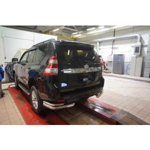 Can Otomotiv TOC5.53.3399 защита заднего бампера Toyota Land Cruiser 150 (2009- /2014-) (уголки) d70/42