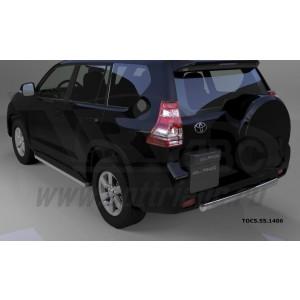 Can Otomotiv TOC5.55.1406 защита заднего бампера Toyota Land Cruiser 150 (2014-) короткая (овал) d 75x42*