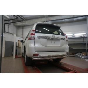 Can Otomotiv TOC5.57.3400 защита заднего бампера Toyota Land Cruiser 150 (2009- /2014-) (двойная) d 76/60