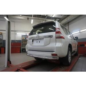 Can Otomotiv TOC5.57.3401 защита заднего бампера Toyota Land Cruiser 150 (2009- /2014-) (одинарная) d 76