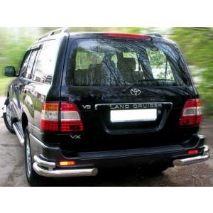 Can Otomotiv TOCP.53.3538 защита заднего бампера Toyota Land Cruiser 100 (1998-2007) (уголки) d 70/48