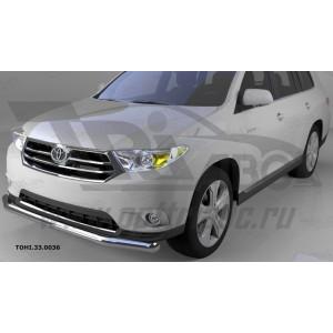 Can Otomotiv TOHI.33.0036 защита переднего бампера Toyota Highlander (2010-2013) (одинарная) d 60