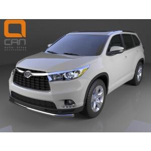 Can Otomotiv TOHI.33.0037 защита переднего бампера Toyota Highlander (2014-) (одинарная) d 60
