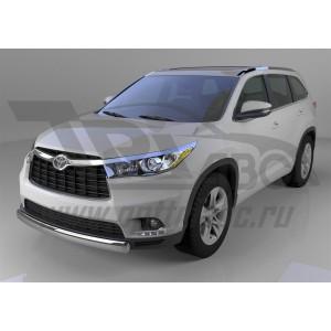 Can Otomotiv TOHI.33.1401 защита переднего бампера Toyota Highlander (2014-) (овал) d 75x42*