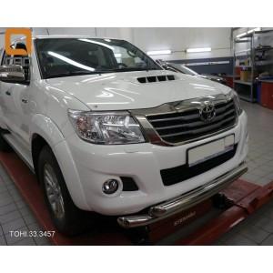 Can Otomotiv TOHI.33.3457 защита переднего бампера Toyota Hilux (2012-2015) (двойная) d 76/60