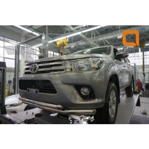 Can Otomotiv TOHI.33.3459 защита переднего бампера Toyota Hilux (2015-) (двойная) d76/60