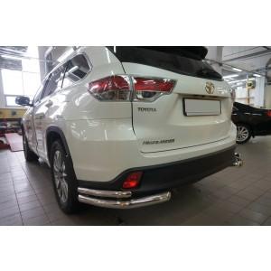 Can Otomotiv TOHI.53.4155 защита заднего бампера Toyota Highlander  (2014-) (уголки) d 60/42