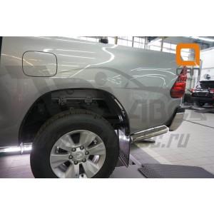 Can Otomotiv TOHI.53.4156 защита заднего бампера Toyota Hilux (2015-) (уголки) d76