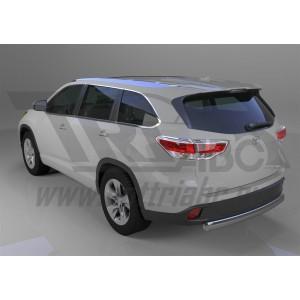 Can Otomotiv TOHI.55.1406 защита заднего бампера Toyota Highlander (2014-) (овал) d 75x42*