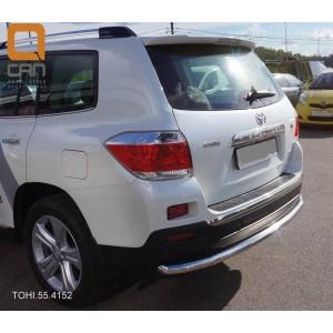 Can Otomotiv TOHI.55.4152 защита заднего бампера Toyota Highlander (2010-2013) (одинарная) d 60