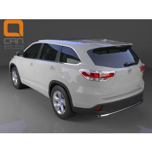 Can Otomotiv TOHI.55.4153 защита заднего бампера Toyota Highlander (2014-) (одинарная) d 60