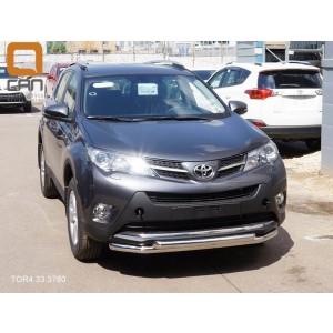 Can Otomotiv TOR4.33.3780 защита переднего бампера Toyota RAV4 (2013-2015) (двойная) d 60/60