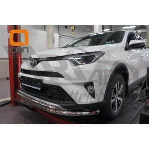 Can Otomotiv TOR4.33.3782 защита переднего бампера Toyota RAV4 (2016-) (двойная) d60/42