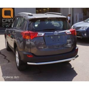 Can Otomotiv TOR4.55.3571 защита заднего бампера Toyota RAV4 (2013-2015) (одинарная) d 60