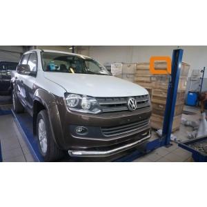 Can Otomotiv VWAM.33.1034 защита переднего бампера Volkswagen Amarok (2010-) (одинарная) d76