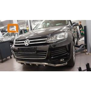 Can Otomotiv VWTU.33.4515 защита переднего бампера Volkswagen Touareg (2010-) (Shark) d60/42