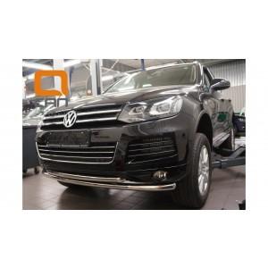 Can Otomotiv VWTU.33.4523 защита переднего бампера Volkswagen Touareg (2010-) (двойная) d60/60*