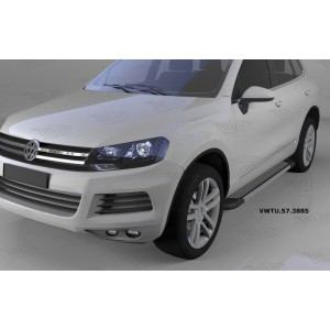 Can Otomotiv VWTU.57.3885 пороги алюминиевые (Topaz) Volkswagen Touareg (Туарег) (2004-)