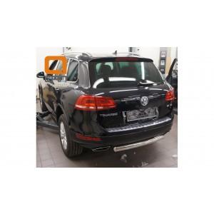 Can Otomotiv VWTU.57.4524 защита заднего бампера Volkswagen Touareg (2010-) (одинарная) овал 76/42*