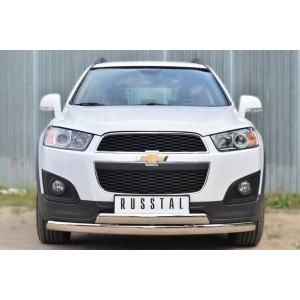 Руссталь CAPZ-001744 защита переднего бампера d75х42 (дуга) d75х42 (дуга) на Chevrolet Captiva 2013-