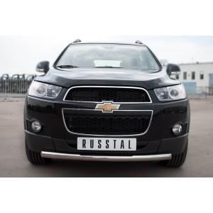 Руссталь CHCZ-000820 защита переднего бампера d63 на Chevrolet Captiva 2011-2013