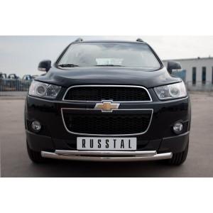 Руссталь CHCZ-000821 защита переднего бампера d63/42 на Chevrolet Captiva 2011-2013
