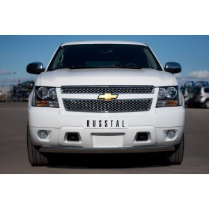 Руссталь CTHZ-000925 защита переднего бампера d75х42 овал на Chevrolet Tahoe 2012-