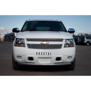 Руссталь CTHZ-000926 защита переднего бампера d76 на Chevrolet Tahoe 2012-