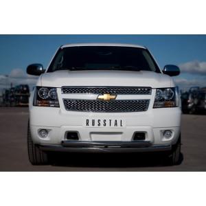 Руссталь CTHZ-000927 защита переднего бампера d76/63 на Chevrolet Tahoe 2012-