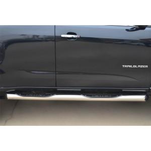 Руссталь CTRT-0015101 пороги труба d76 с накладкой (вариант 1) на Chevrolet Trailblazer 2012-