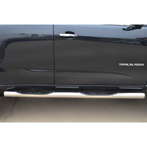 Руссталь CTRT-0015103 пороги труба d76 с накладкой (вариант 3) на Chevrolet Trailblazer 2012-