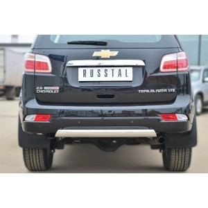 Руссталь CTRZ-001516 защита заднего бампера 75*42 (дуга) на Chevrolet Trailblazer 2012-