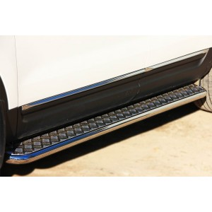 Руссталь FEL-001315 пороги труба d42 с листом на Ford Explorer 2012-