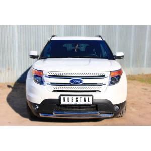 Руссталь FEZ-001307 защита переднего бампера d63/63 на Ford Explorer 2012-